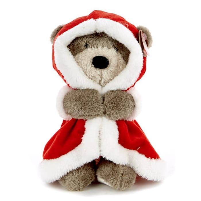Hugs Bear Christmas Soft Toy - Santa Gown