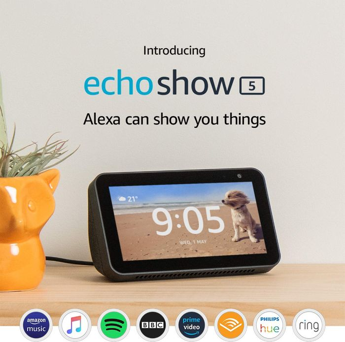 Cheap Echo Show 5 Compact Smart Display with Alexa - Save £30!