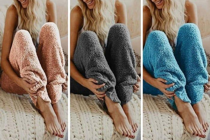 Teddy Bear Fleece Pyjama Bottoms - 5 Colours & 5 Sizes!