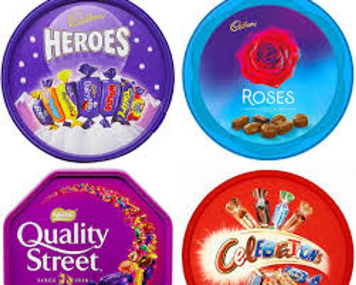 Heroes, Roses, Celebrations & Quality Street Tubs £3.50