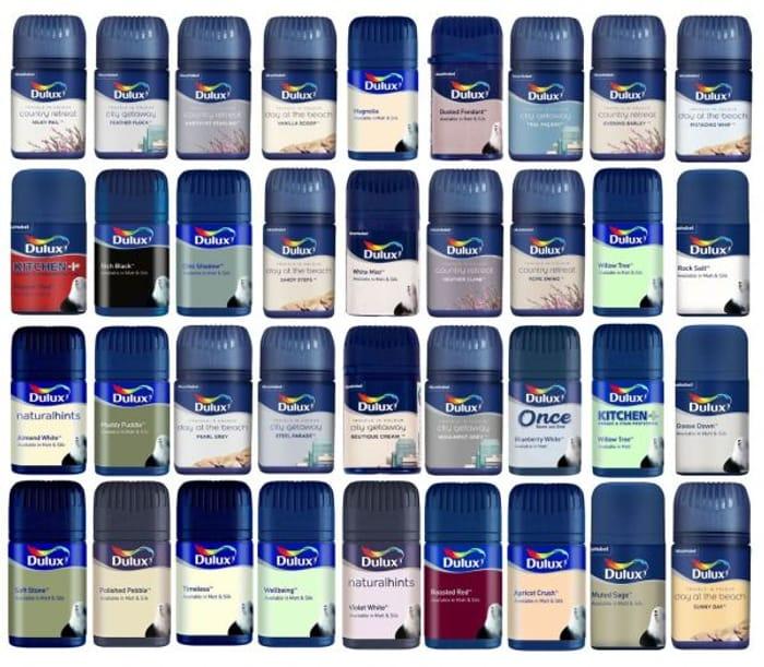 Dulux Emulsion Testers Samples Assorted Colours 50ml Painter Pots Arts & Crafts