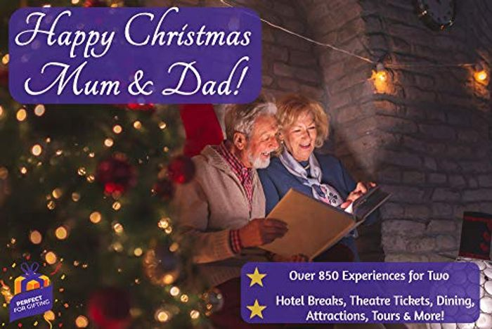 CHEAP! Happy Christmas Mum & Dad - Gift Experience for 2 - Hotel Breaks, Theatre