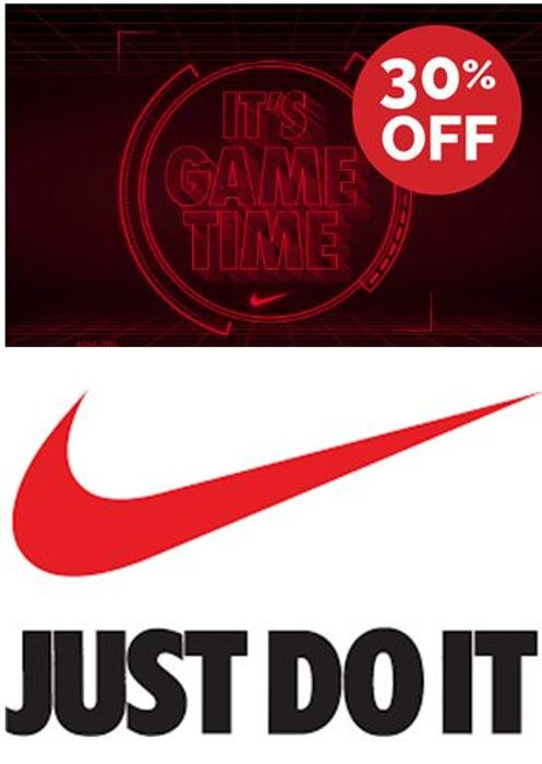30% off Nike Today