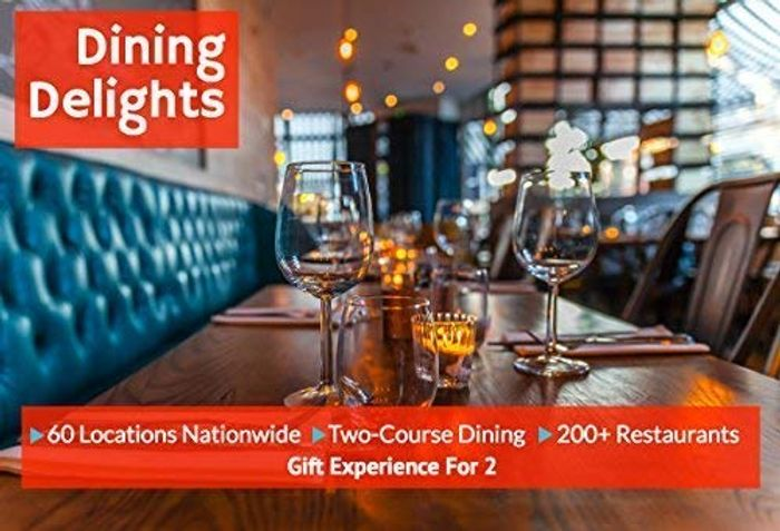 Dining Delights for Two - 60 Locations Nationwide - 200+ Restaurants