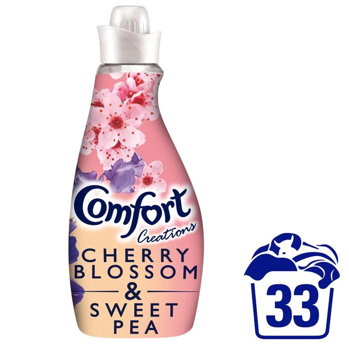 Comfort Cherry Blossom and Sweet Pea Fabric Conditioner 22 Washes 1.16L