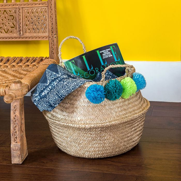 Cheap Green Pom Pom Belly Basket on Sale From £25 to £8.95