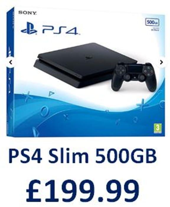 PS4 Slim 500GB Console - Black