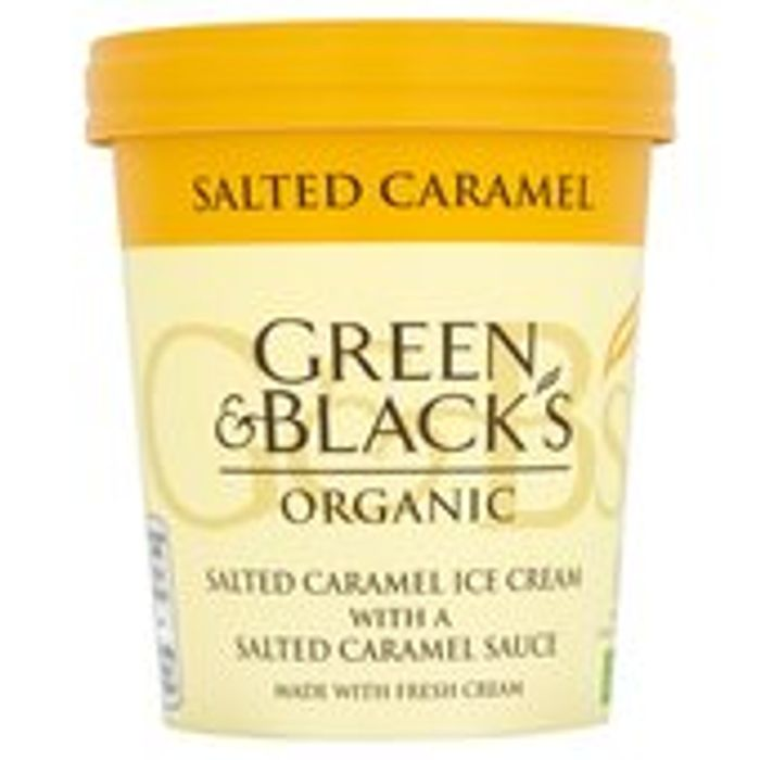 Green & Black'S Organic Salted Caramel Ice Cream 500ml