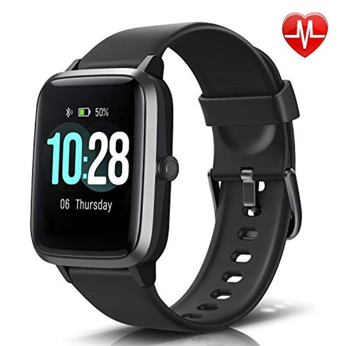 LETSCOM Fitness Tracker with Heart Rate Monitor, Smart Watch