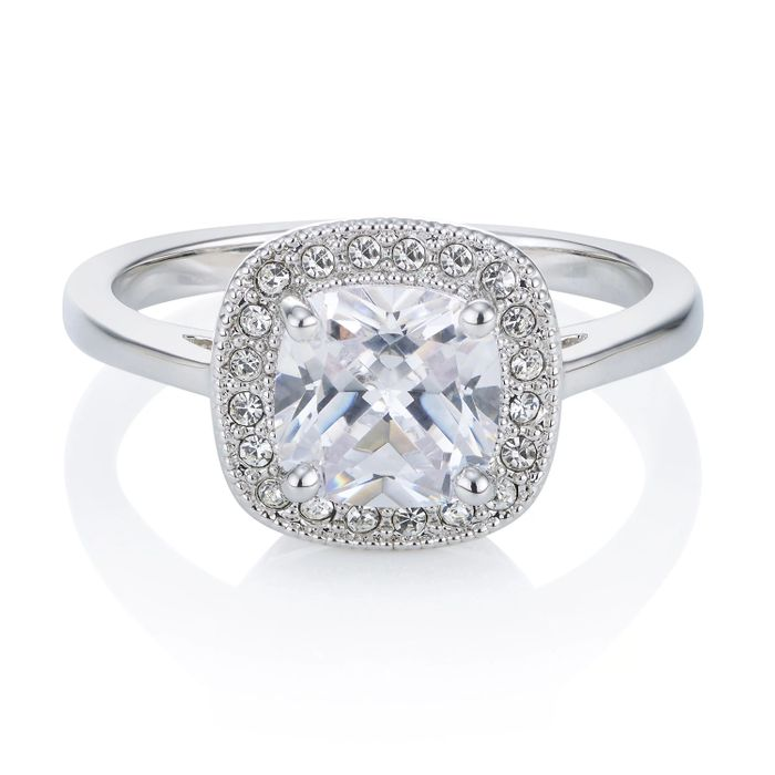 Cheap Classic Pave Cushion Ring + 99p for Gift Bag, Only £6!