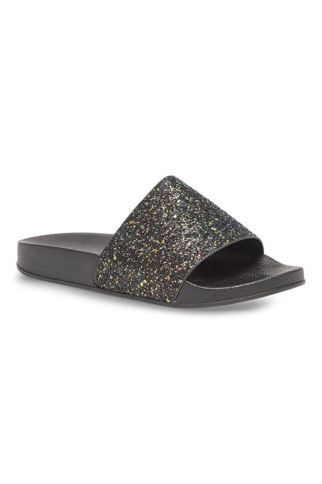 Black Disco Glitter Slide