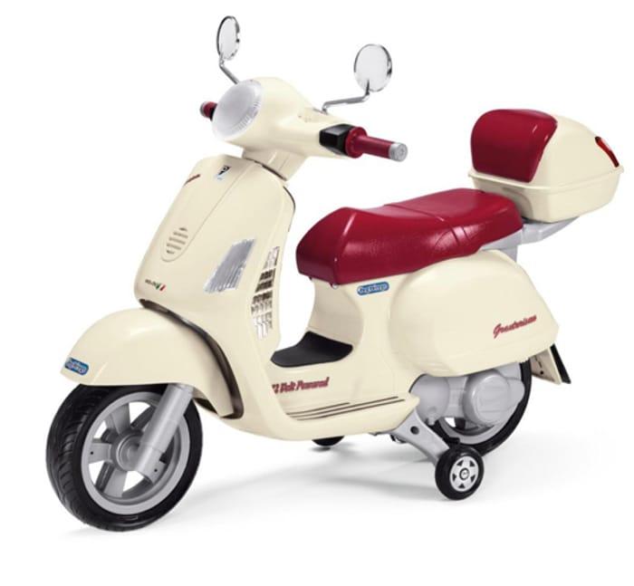 Peg Perego Vespa 12V Kids Electric Ride on Bike - Cream
