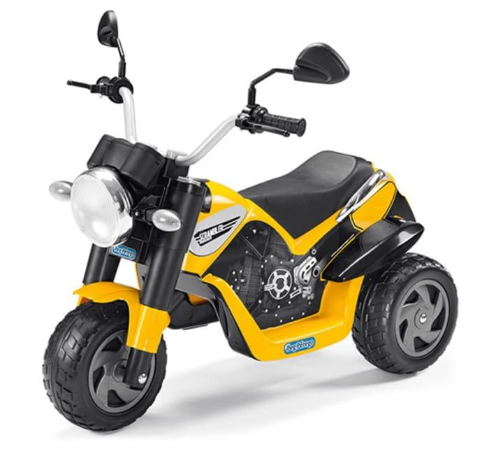 Ducati Scrambler 6V Kids Electric Ride on Trike by Peg Perego - Yellow.