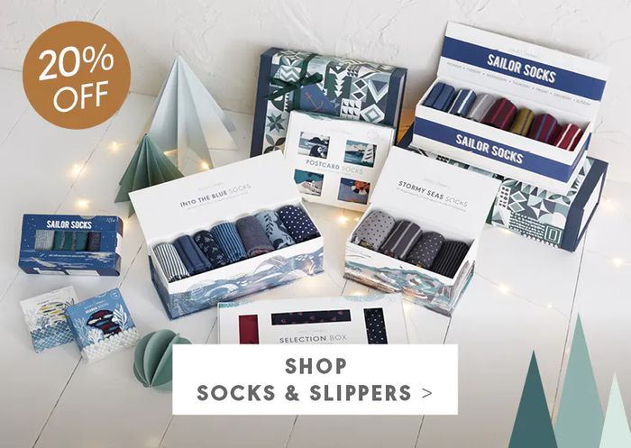 Special Offer 20% off All Boxes of Socks & Slippers