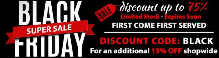 Black Friday Sale plus Extra 15% Off