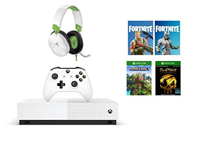 Xbox One S All-Digital Edition + Turtle Beach Recon 70X White Gaming Headset