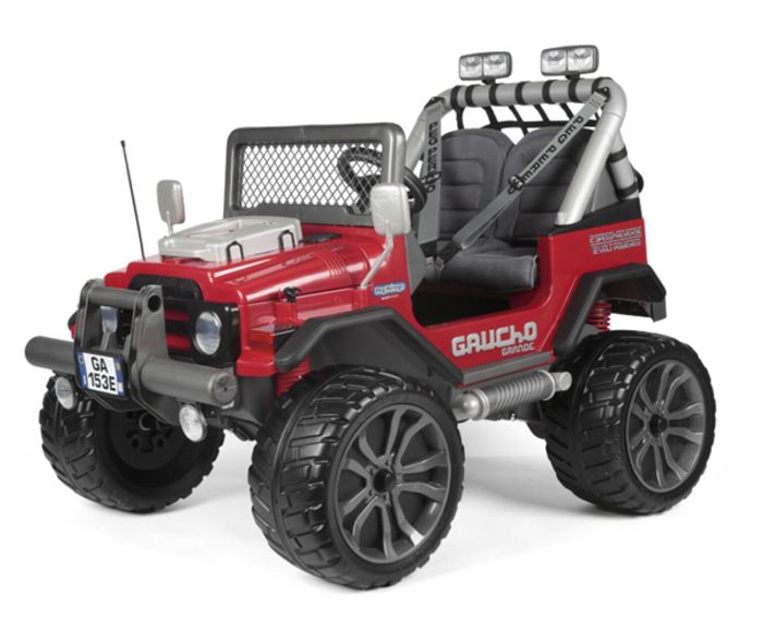 G Perego Gaucho Grande 12V 2 Seater Kids Electric Ride on Jeep - Red