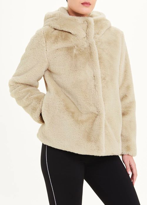 Hooded Faux Fur Jacket