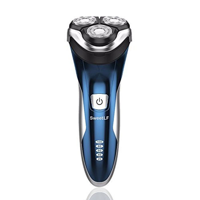 SweetLF 3D Rechargeable IPX7 Waterproof Electric Shaver Wet and Dry