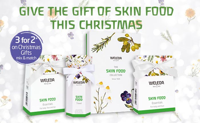 3 for 2 on Our Weleda Skin Food Gifts