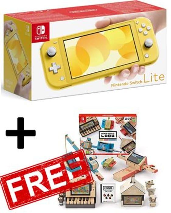 AMAZON BUNDLE! Nintendo Switch Lite Yellow + FREE LABO VARIETY KIT