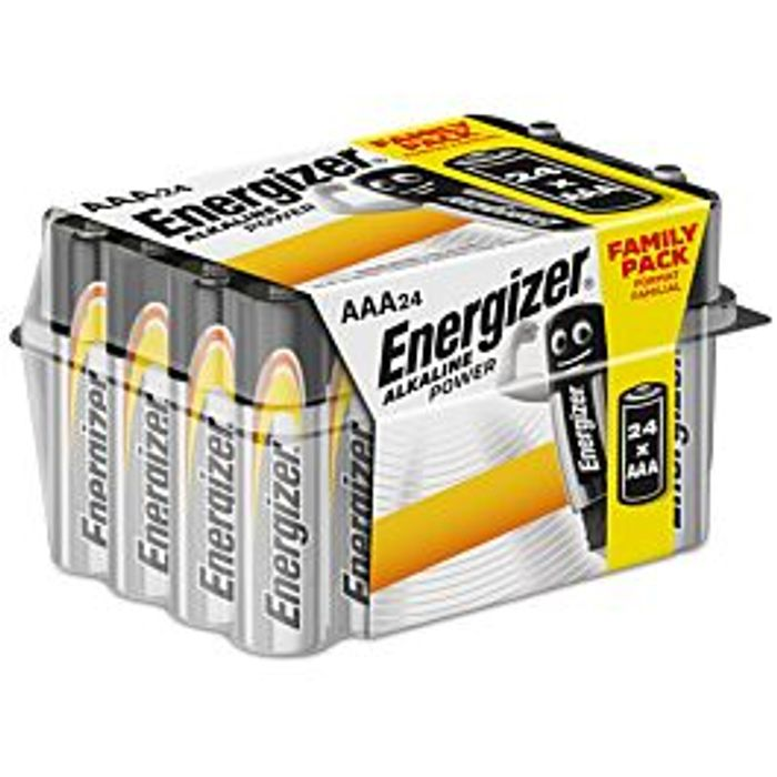 Energizer Alkaline Power Batteries - 24 Pack Size AA or AAA £6.79 with Code