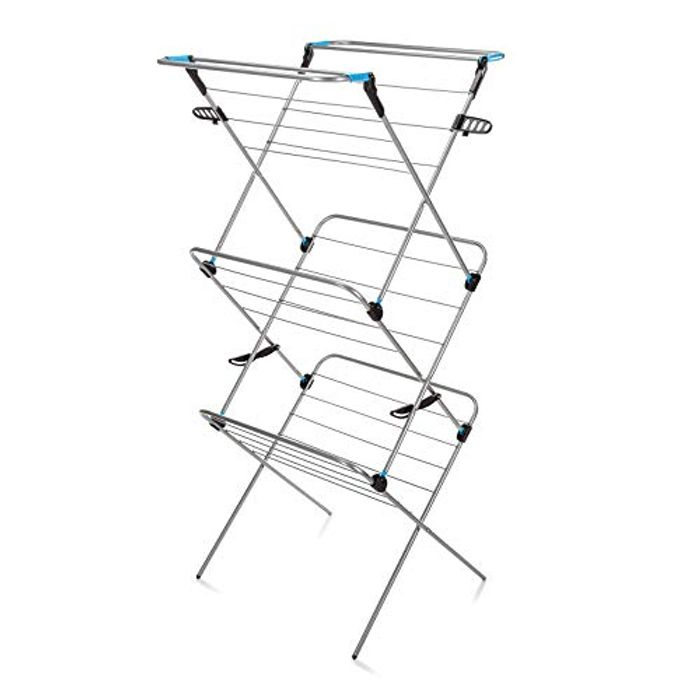 Minky 3 Tier Verso Airer, Silver, 20 M - Save £5!