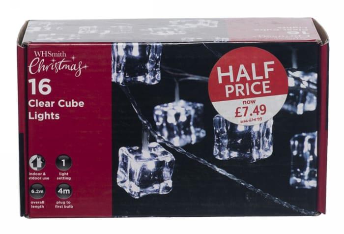 WHSmith 16 White Cube Lights - HALF PRICE!