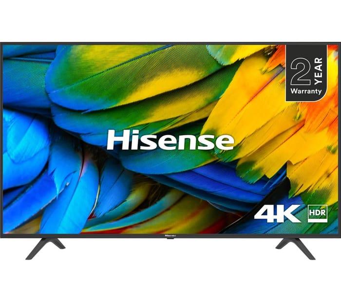 """*SAVE £80* HISENSE 50"""" Smart 4K Ultra HD HDR LED TV"""