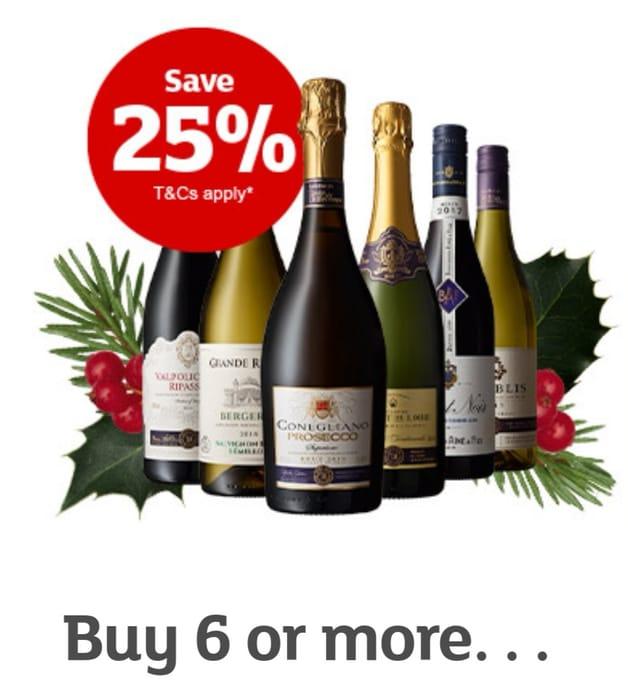 Sainsbury's 25% off Wine & Sparkling Offer