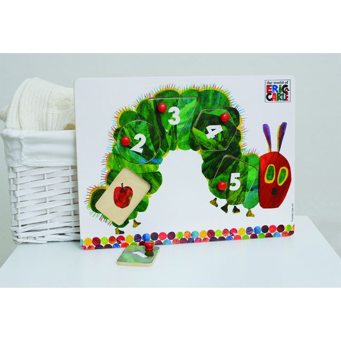 The Very Hungry Caterpillar Wooden Peg Puzzle - Save £2!