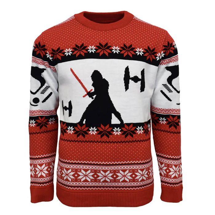 Star Wars Kylo Ren Knitted Christmas Jumper