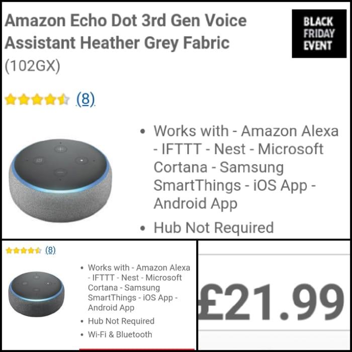 Amazon Echo Dot 3rd Gen Voice Assistant.