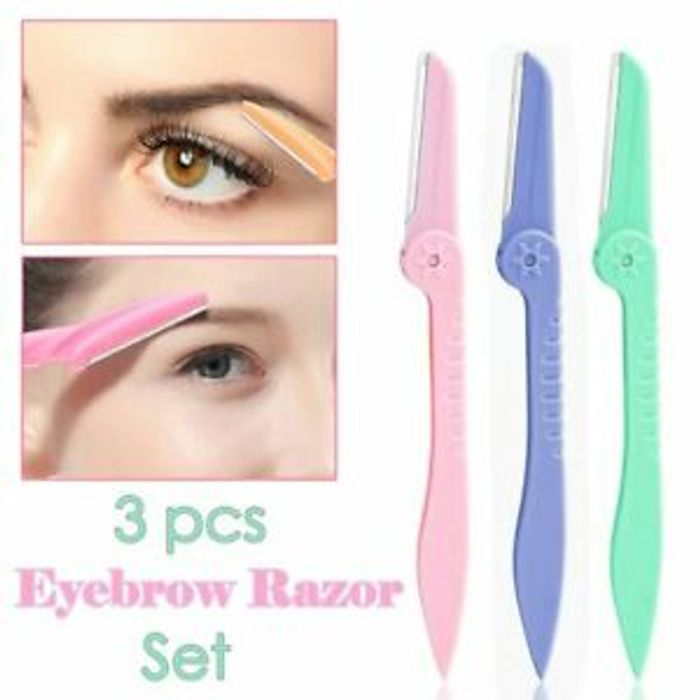 3 Pack Eyebrow Brow Shaper Razor Blade Facial Hair Trimmer Remover Derma Planing