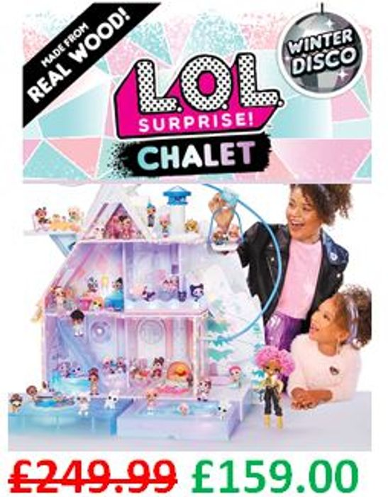 CHEAPEST PRICE! L.O.L. Surprise! Winter Disco Chalet £159 + FREE DELIVERY