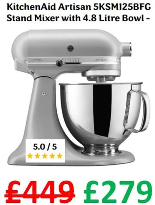 KitchenAid Artisan Stand Mixer with 4.8 Litre Bowl (5KSM125BFG )