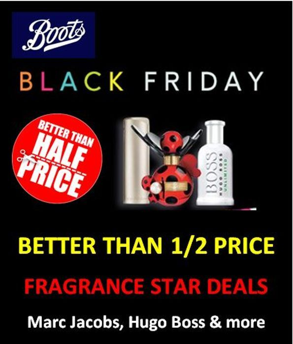 Boots HALF PRICE FRAGRANCE Deals