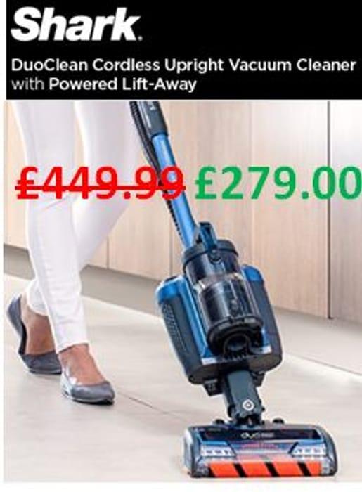 £170 OFF! SHARK CORDLESS Upright Vacuum Cleaner [IC160UK], Powered Lift-Away