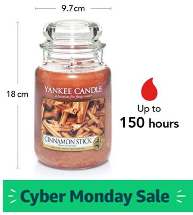 £8 off - Yankee Candle Large Jar - Cinnamon Stick,