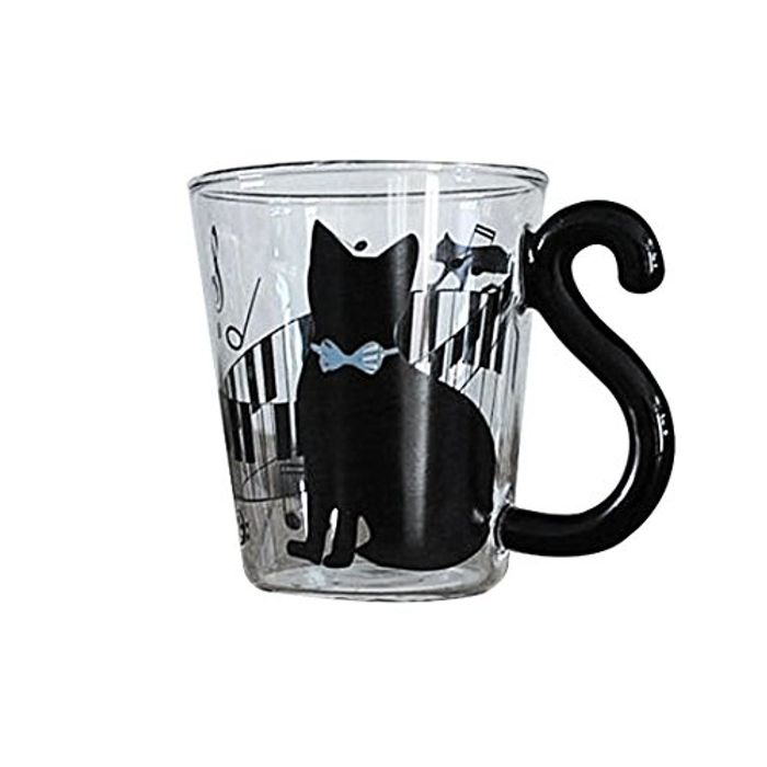Cute Creative Cat Kitty Glass Mug FREE DELIVERY