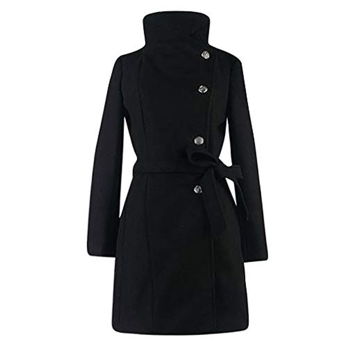 Cheap Womens Winter Lapel Wool Coat at Amazon on Sale From £29.99 to £10.95