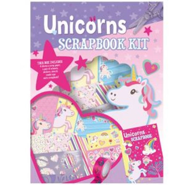 Unicorn Scrapbook Kit Kids Arts & Crafts Stickers School Stationary Girls Fun