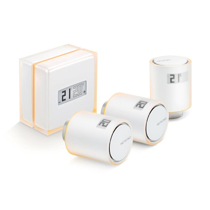 Smart Thermostat and 3x Radiator Thermostat Bundle