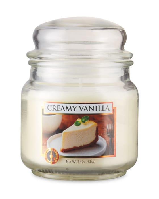 Creamy Vanilla Candle Jar Only £2.99