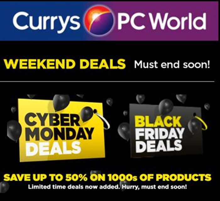 LAST CHANCE! BLACK TAG DEALS at Currys! MUST END MONDAY!