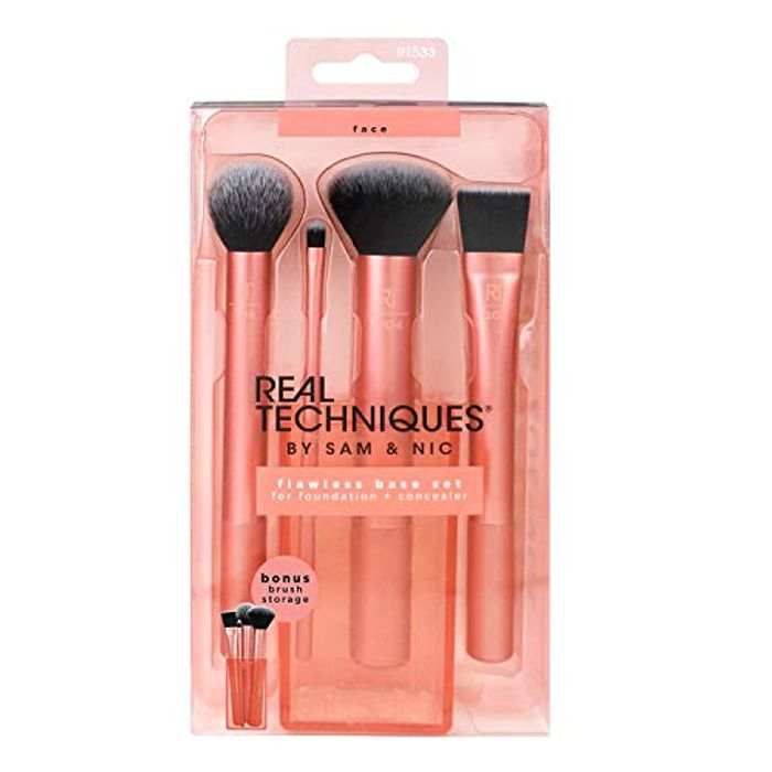 Best Ever Price! Real Techniques Flawless Base Makeup Brush Set for Foundation