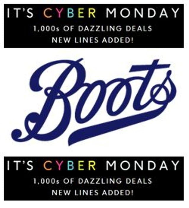 Boots CYBER MONDAY DEALS