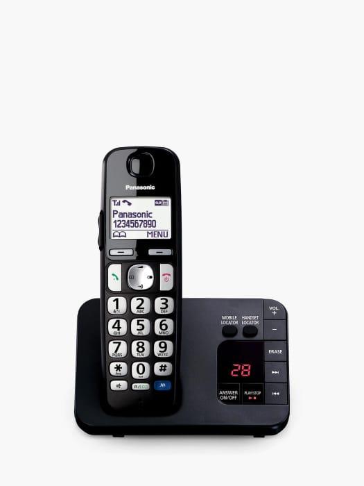 Panasonic KX-TGE720EB Bigger Button Cordless Telephone