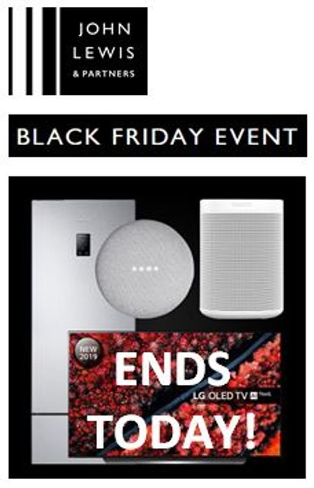 LAST CHANCE! John Lewis Black Friday Event ENDS TODAY! Shop these PICKS!