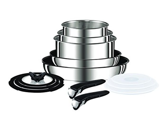 DOTD! Tefal Ingenio Pots and Pans Set, Stainless Steel, 13-Piece, Induction